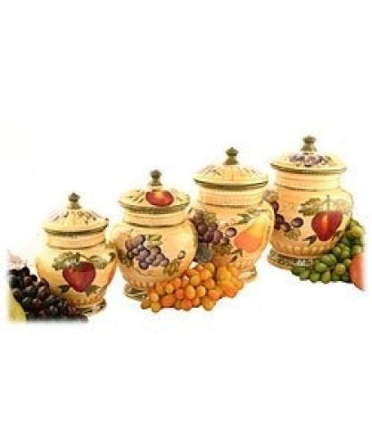 tuscan collection deluxe hand painted 4 piece kitchen