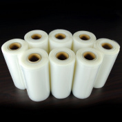 8 Large 20.3cm x 50' Food Saver Vacuum Sealer Rolls Commercial Grade Sealer Bags