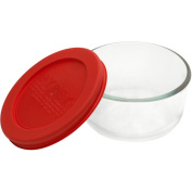 Pyrex 6-Piece Storage Plus 1-Cup Round Set with Red Plastic Cover
