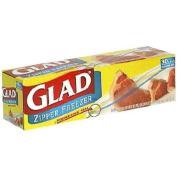 Glad Zipper Freezer Bags, Gallon Size 30 bags
