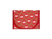 Resnackit Reusable Sandwich and Snack Bag, Red/Khaki