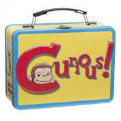 Vandor 49070 Curious George Aeroplane 9 by 8.9cm by 19.1cm Tin Tote, Large, Multicoloured