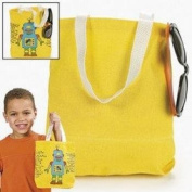 YELLOW CANVAS TOTE BAG (1 DOZEN) - BULK