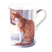 Cat at the Window English Design Tea and Coffee Mug