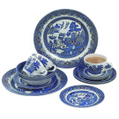 Churchill China Churchill Blue Willow Dinner Set, 20 Piece