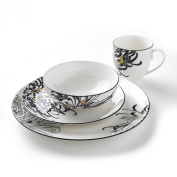 Denby Monsoon Home Chrysanthemum 4-Piece Boxed Set