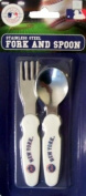 NY Baseball New York Mets Baby Eating Utensils Fork and Spoon