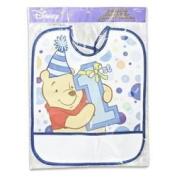 Plastic Bib Winnie the Pooh 1st Birthday Day Boy 33.7cm h X 27.9cm l