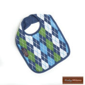 Bib in Blue Argyle