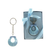 "Lunaura Baby Keepsake - Set of 30.5cm Boy"" Baby Bib Key Chain - Blue"