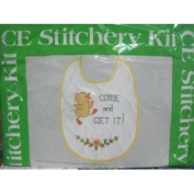 "CE Stitchery Kit Sugar 'n Spice ""Come and Get It!"" Baby Bib"