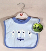 The Beatles Help Baby Bib ~ Blue