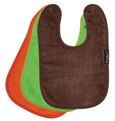 Standard Wonder Bib, 3 pack - Lime, Choc, Orange