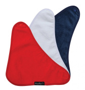 Bandana Wonder Bib, 3 pack - Red, White, Navy