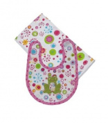 Maison Chic-Girl Frog Boxed Bib & Burp Gift Set