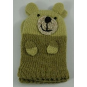 Two's Company Kids Bear Gloves Mittens - Green