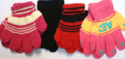 Set of Three Multicolor and One Pair Black Colour Magic Gloves for Infants and Toddlers Ages 1-3 Years.