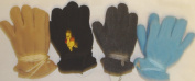 Set of Four Pairs of One Size Fleece Microfiber Mittens for Infants for Ages 0-12 Months