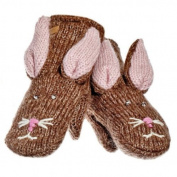 Knitwits Delux Beatrice the Bunny Children's Wool Knit Mittens