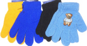Set of Four Pairs One Size Stretch Magic Gloves for Children Ages 1-4 Years