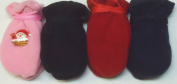 Set of Four Pairs of Multicolor Finest Mongolian Fleece Mittens for Infants Ages 3-12 Months