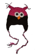 "PINK & BROWN OWL Baby Hat Photo Prop Crochet Baby Hat Gift for Boy & Girl (Hand Made) by ""BubuBibi"""