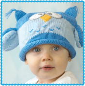 Owl Hoot Blue Beanie for 1-2 yrs