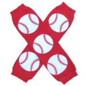 Red Baseball - So Sydney Brand Leg Warmers - for my Infant, Baby, Toddler, Little Girl or Boy