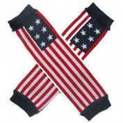 Patriotic 4th of July USA American Flag Stripe - So Sydney Brand Leg Warmers - for my Infant, Baby, Toddler, Little Girl or Boy