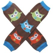 Winking Brown Owls - So Sydney Brand Leg Warmers - for my Infant, Baby, Toddler, Little Girl or Boy