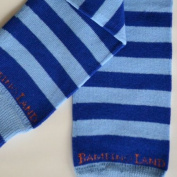 Bambino Land - Blue/dark Blue Stripes Organic Cotton Baby Leg Warmers
