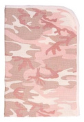 Baby camouflage pink camo infant receiving blanket