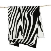 """Barefoot Dreams """"Barefoot in the Wild"""" Receiving Blanket - Zebra"""