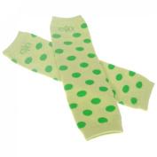 Baby Toddler Infant Boy Girl Long Cotton Legging Tights Arm Leg Warmer Cute Sock,Green dot