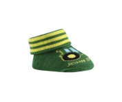 John Deere Newborn Infant Tractor Bootie Socks
