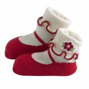 JazzyToes Mary Janes , Red, 12-24 Months