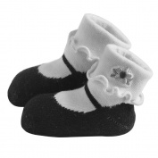 JazzyToes Mary Janes , Black, 12-24 Months