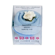 Flower Stork Fairy Cake - Sock - baby boy blue - 3 months +. Imported from UK.