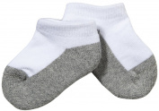 Jefferies Seamless Sport Low Cut Half Cushion 3 Pk - Wht/Grey-Toddler