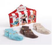 "Best Seller ""Big Top Booties"" Set of Three Circus-Themed Socks"