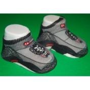 Air Jordan Jumpman Grey and Black One Pair of Infant Socks