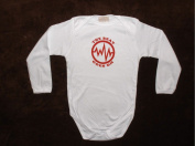 Unique Long Sleeve Hand Silk Screened 100% Cotton Novelty Baby Onesie SIZE 18-24 MONTHS - The Beat Goes On