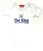 Silly Souls tt_53_18 The King - Born to Rule your Life - 12-18 month bodysuit - white