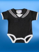 #700 1pc Infant Baby Black Sailor Suit Outfit Size