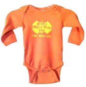 Don't Mess with Me, I'm Teething, Orange Long Sleeve, 0-3M