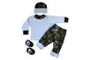 Bonnies Boys Baby Mossy Oak/Blue Gift Set 3-6M