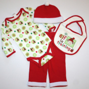 Babygear Unisex Baby 'Elf in Training' 4 Piece Set, - Size
