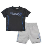"Puma ""Dedication"" 2-Piece Outfit (Sizes 0M - 9M) - black, 3 - 6 months"