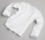 Baby Shirt, Snapside, Mitten Cuff, 3Mo, 6Dz