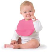 Kiddopotamus Bibbity Rinse & Roll Bib in Pink